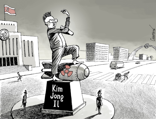Trafficwomen in political cartoon Chappatte-kji-cartoon