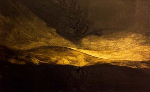 Francesca Cho: Gold Tree (2006) Oil on canvas, 41 x 66 cm