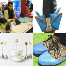 Clockwise from top left: the Transform Raincap from Hyejin Gho, Hyesu Kim, Narae Park and Yeonwook Choi