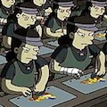 Thumbnail image for Banksy's Simpsons animation sweatshop slur angers Koreans