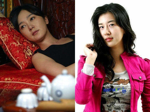 Lee Seung Yeon (left) and Jang Mi In Ae