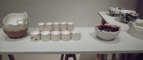 Some of Sunae Kim's drinking vessels