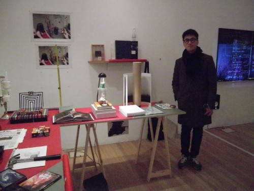 Hyukgue Kwon with his curation of donated objects