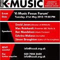 Thumbnail image for K-music focus forum at the KCC