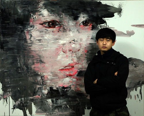 Shin Kwang-ho in his studio