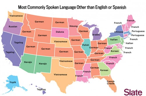 Post image for Koreans in America: the Slate map of the most popular language in your State
