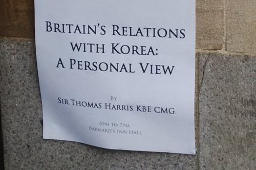 Post image for UK-Korea Relations – A Talk by Thomas Harris KBE