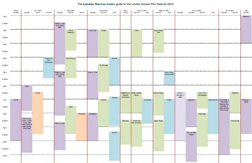 Post image for Your at-a-glance guide to the LKFF 2014 schedule