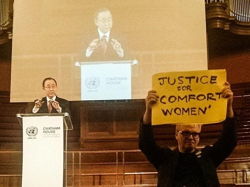 Post image for Comfort Women deal protested at Ban Ki-moon speech