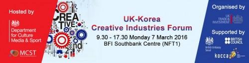Post image for Event news: UK-Korea Creative Industries Forum