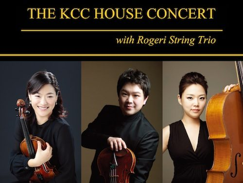 Post image for Event news: KCC House Concert with the Rogeri String Trio