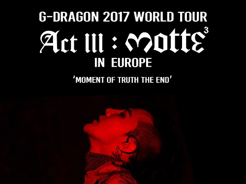 Post image for Event news: G-Dragon tour comes to London and Birmingham