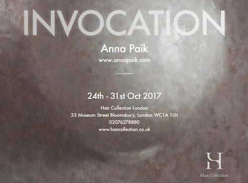 Post image for Anna Paik: Invocation, at Han Collection